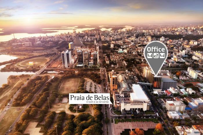 Localização da Office 424 Escritório Virtual e Coworking